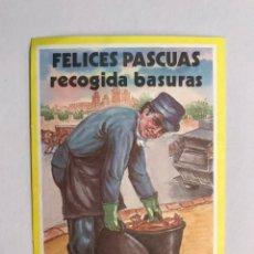 Postales: FELICITACIÓN. FELICES PASCUAS. RECOGIDAS BASURAS. FELICITACIÓN SOCIAL (A.1984). Lote 171281312