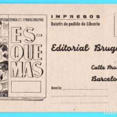 Postales: TARJETA IMPRESOS EDITORIAL BRUGUERA. LIBROS DE RADIOTÉCNICA, 1947.. Lote 171488460