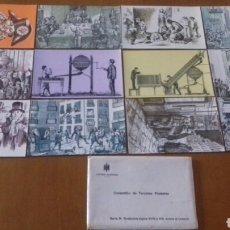 Postales: LOTE DE 12 POSTALES F. N. M. T. SERIE B COMPLETA. DIRECCIÓN GENERAL DE TRIBUTOS ESPECIALES.. Lote 171517949