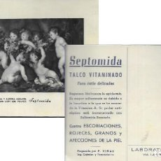 Postales: POSTAL LABORATORIOS VIÑAS - TALCO VITAMINADO SEPTOMIDA - . Lote 171571522