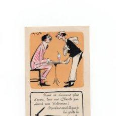 Postales: TARJETA PUBLICITARIA WATERMAN PLUMAS.. Lote 172019127