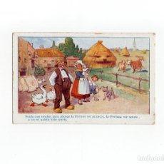 Postales: TARJETA PUBLICITARIA LA POSADA DE ALSACIA. LA FORTUNA ME SONRIE.. Lote 172019768