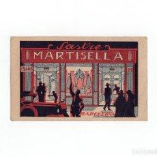 Postales: TARJETA PUBLICITARIA SASTRERIA MATISELLA. BARCELONA.. Lote 172019898