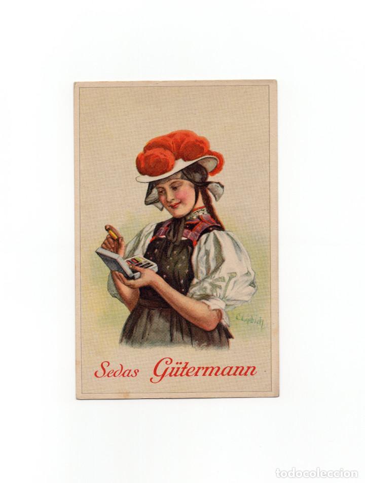POSTAL PUBLICITARIA LA SEDA PARA COSER GÜTERMAN. (Postales - Postales Temáticas - Publicitarias)