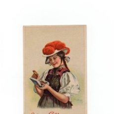 Postales: POSTAL PUBLICITARIA LA SEDA PARA COSER GÜTERMAN.. Lote 172058778
