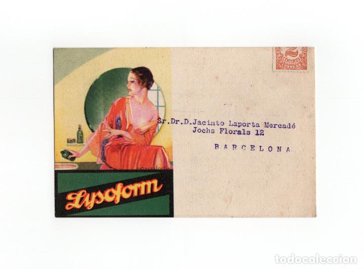 POSTAL PUBLICITARIA LABORATORIO LYSOFORM - VALENCIA (Postales - Postales Temáticas - Publicitarias)