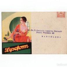 Postales: POSTAL PUBLICITARIA LABORATORIO LYSOFORM - VALENCIA. Lote 172062983