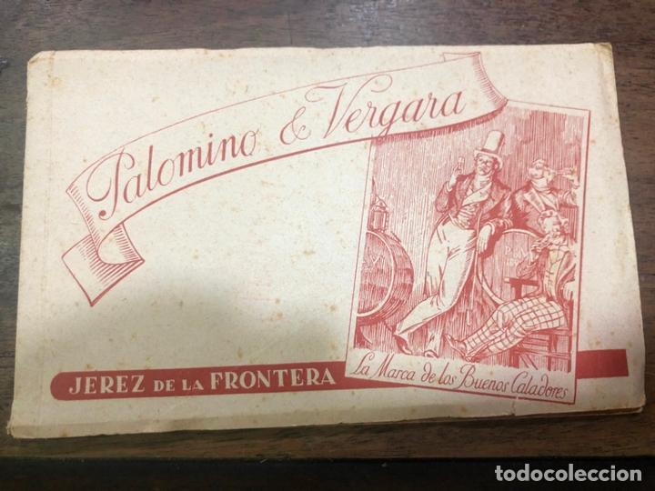 LIBRO CON POSTALES PALOMINO & VERGARA - JEREZ DE LA FRONTERA (Postales - Postales Temáticas - Publicitarias)