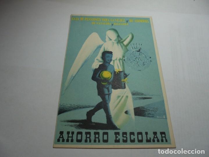 Postales: magnificas antiguas 9 postales de caja de pensiones para la vejez y de ahorros - Foto 2 - 172154948