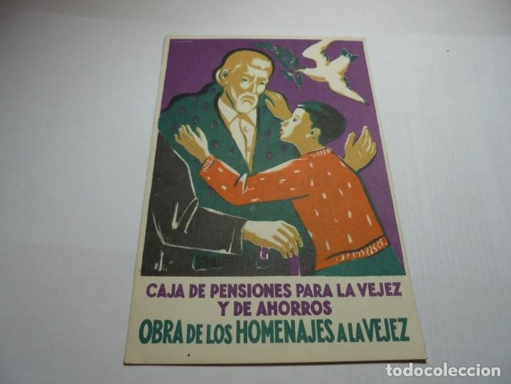 Postales: magnificas antiguas 9 postales de caja de pensiones para la vejez y de ahorros - Foto 3 - 172154948