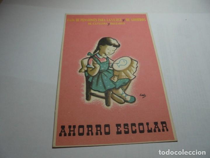 Postales: magnificas antiguas 9 postales de caja de pensiones para la vejez y de ahorros - Foto 4 - 172154948