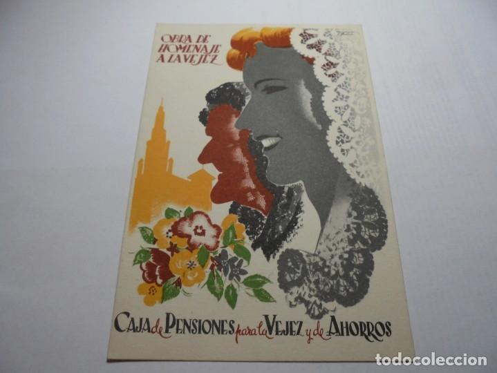 Postales: magnificas antiguas 9 postales de caja de pensiones para la vejez y de ahorros - Foto 5 - 172154948