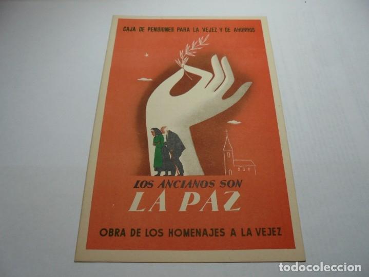 Postales: magnificas antiguas 9 postales de caja de pensiones para la vejez y de ahorros - Foto 6 - 172154948