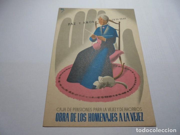 Postales: magnificas antiguas 9 postales de caja de pensiones para la vejez y de ahorros - Foto 7 - 172154948