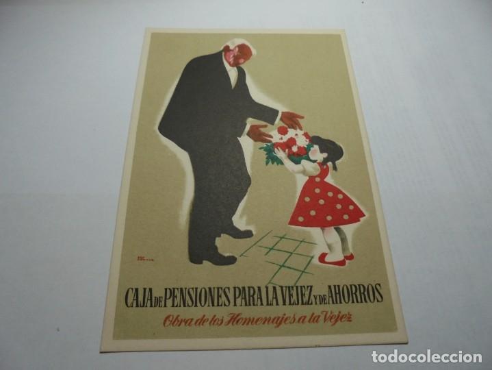 Postales: magnificas antiguas 9 postales de caja de pensiones para la vejez y de ahorros - Foto 8 - 172154948