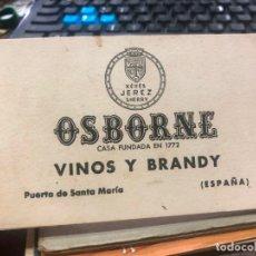 Postales: 8 POSTALES VINOS Y BRANDY OSBORNE - PUERTO DE SANTA MARIA. Lote 172231135