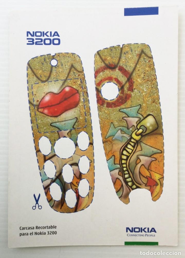 CARCASA RECORTABLE PARA EL NOKIA 3200 – AÑO 2003 (Postales - Postales Temáticas - Publicitarias)