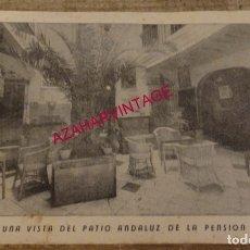 Postales: SEVILLA, ANTIGUA POSTAL PUBLICITARIA PENSION VIZCAYA, TOP RARA. Lote 173551770