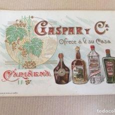 Postales: TARJETA POSTAL PUBLICITARIA DE GASPAR Y CIA. CARIÑEÑA. Lote 173951410