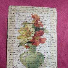 Cartes Postales: ANTIGUA POSTAL PUBLICITARIA. BORDADOS DOLORS GIMPERA DE BOSCH. BARCELONA. 1904. Lote 174475012