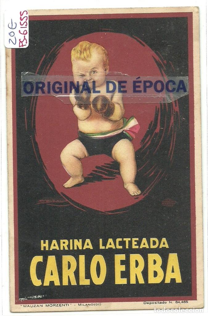 (PS-61555)POSTAL PUBLICITARIA HARINA LACTEADA CARLO ERBA (Postales - Postales Temáticas - Publicitarias)