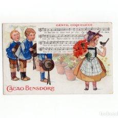 Postales: POSTAL PUBLICIDAD CACAO Y CHOCOLATE BENSDORP.. Lote 175128945