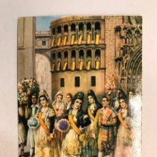 Postales: PUBLICIDAD. MANTAS MESTRE . BOCAIRENTE. POSTAL, OFRENDA DE FLORES A LA VIRGEN (A.1965€. Lote 175158075