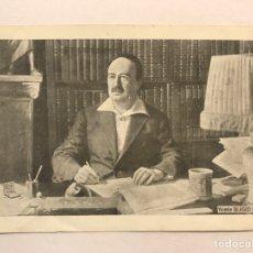 Postales: VICENTE BLASCO IBÁÑEZ. POSTAL PUBLICITARIA PAPEL BAMBÚ, EDITA: IMPRENTA VALENCIANISTA (H.1920?). Lote 176525290