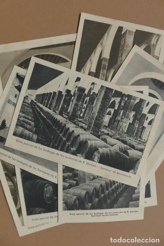 8 POSTALES SANLUCAR DE BARRAMEDA - BODEGA SUCESORES R. MANJÓN - ANTIGUAS (Postales - Postales Temáticas - Publicitarias)
