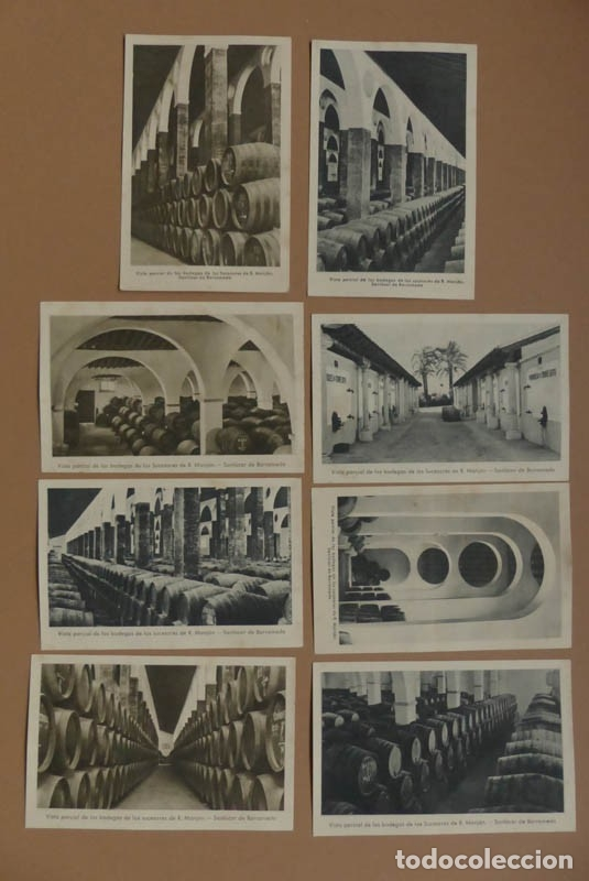 Postales: 8 POSTALES SANLUCAR DE BARRAMEDA - BODEGA SUCESORES R. MANJÓN - ANTIGUAS - Foto 3 - 177081797