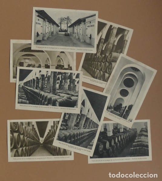 Postales: 8 POSTALES SANLUCAR DE BARRAMEDA - BODEGA SUCESORES R. MANJÓN - ANTIGUAS - Foto 4 - 177081797