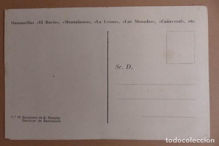 Postales: 8 POSTALES SANLUCAR DE BARRAMEDA - BODEGA SUCESORES R. MANJÓN - ANTIGUAS - Foto 5 - 177081797