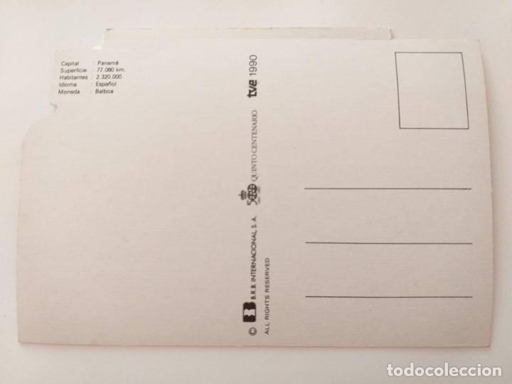 Postales: POSTAL PUBLICIDAD GALLETAS CUETARA. TELEVISION ESPAÑOLA. ESPECIAL PANAMÁ. AÑO 1990. - Foto 2 - 177657635