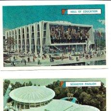 Postales: J181- LOTE DE 25 POSTALES PUBLICITARIAS DE LOS PABELLONES DE FERIA NEW YORK WORLD'S FAIR 1964-65. Lote 178366235