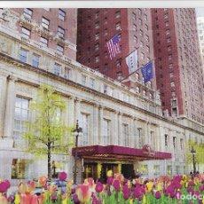 Postais: POSTAL PUBLICITARIA HOTEL HILTON CHICAGO, THE MICHIGAN AVENUE ENTRANCE. Lote 178595128