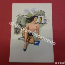 Postales: VESPA. ANTIGUA POSTAL PUBLICITARIA VESPA CLUB ESPAÑA. Lote 178595980
