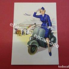 Postales: VESPA. ANTIGUA POSTAL PUBLICITARIA VESPA CLUB ESPAÑA. Lote 178596087