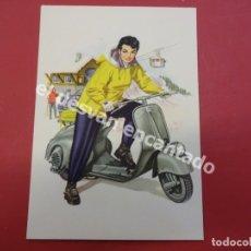Postales: VESPA. ANTIGUA POSTAL PUBLICITARIA VESPA CLUB ESPAÑA. Lote 178596151