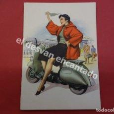 Postales: VESPA. ANTIGUA POSTAL PUBLICITARIA VESPA CLUB ESPAÑA. Lote 178596291