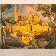 Postales: MOSTELLE. POSTAL PÚBLICITARIA COMPLEMENTO ALIMENTICIO. COLEC. MOSTELE. SEGOVIA. LA CATEDRAL (A.1934). Lote 178826105