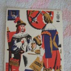 Postales: TARJETA PUBLICIDAD LARINGOBIS MEDOBIS LABORATORIOS PROMESA, DIBUJO DE F. ECHAUZ. Lote 178989387