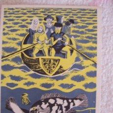 Postales: TARJETA PUBLICIDAD BOLDRENA LICARBIN LABORATORIOS PROMESA, DIBUJO DE F. ECHAUZ 1951. Lote 178989412