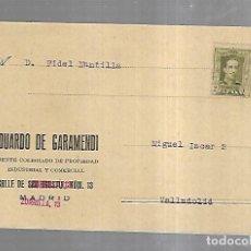 Postales: TARJETA POSTAL PUBLICITARIA. EDUARDO DE GARAMENDI Y ARISTIZABAL. MADRID. Lote 179241340