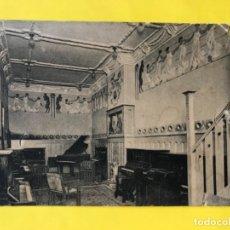 Postales: ANTIGUA POSTAL PUBLICITARIAS ALMACEN DE PIANOS CASA GASSET & TOLELDO MADRID LACOSTE CALLE VICTORIA. Lote 180464615