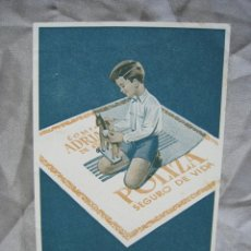 Postales: COMPAÑIA ADRIATICA DE SEGUROS. MADRID. POSTAL PUBLICITARIA. Lote 180857216