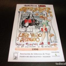Postales: TARJETA POSTAL MINGOTE 8 FERIA LIBRO VIEJO Y ANTIGUO MADRID 1996. Lote 180885901