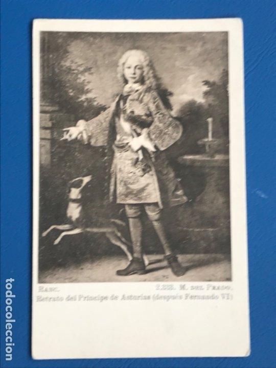 POSTAL PUBLICIDAD AGUA SOLARES RETRATO PRINCIPE DE ASTURIAS ( FERNANDO VI) MUSEO DEL PRADO J. ROIG (Postales - Postales Temáticas - Publicitarias)