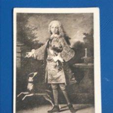 Postales: POSTAL PUBLICIDAD AGUA SOLARES RETRATO PRINCIPE DE ASTURIAS ( FERNANDO VI) MUSEO DEL PRADO J. ROIG . Lote 181201542