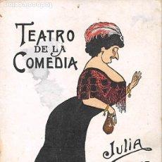 Postales: TEATRO DE LA COMEDIA- JULIA MARTINEZ. Lote 181713765