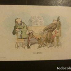 Postales: POSTAL PUBLICITARIA EDITORIAL DE MUSICA CASA DOTESIO MADRID BILBAO BARCELONA SANTANDER. Lote 181928210